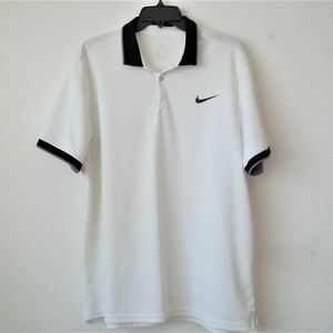 Nike Dri-Fit Men's White Short Sleeve Shirt